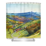 The Village Of Wieden In The Black Forest Shower Curtain