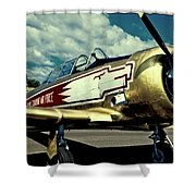 The Vintage North American T-6 Texan Shower Curtain