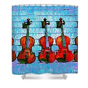 The Violin Store Shower Curtain