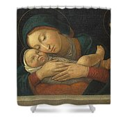 The Virgin And Child With Four Saints Shower Curtain