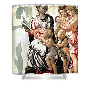 The Virgin And Child With Saint John And Angels Shower Curtain
