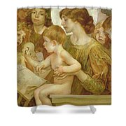 The Virgin Of The Angels Shower Curtain