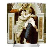 The Virgin The Baby Jesus And Saint John The Baptist Shower Curtain