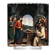 The Vision Of St Bernard Shower Curtain