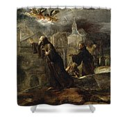 The Vision Of St Francis Of Paola Shower Curtain