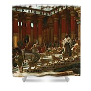 The Visit Of The Queen Of Sheba To King Solomon Shower Curtain