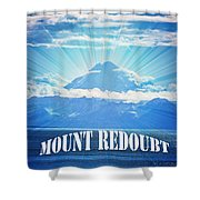 The Volcano Mt Redoubt Shower Curtain