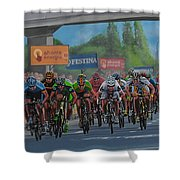 The Vuelta Shower Curtain by Paul Meijering