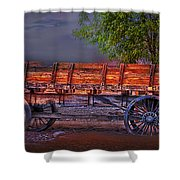 The Wagon Shower Curtain