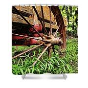 The Wagon Wheel Shower Curtain