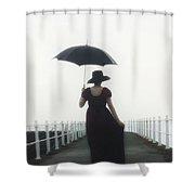 The Walk Shower Curtain by Joana Kruse