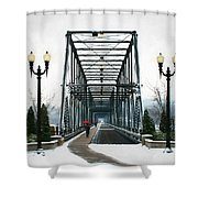The Walking Bridge Shower Curtain