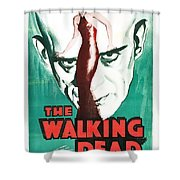 The Walking Dead Poster Shower Curtain