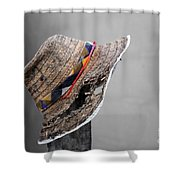The Wall Builder's Hat Shower Curtain