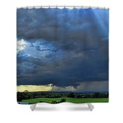 The Wall Cloud Shower Curtain