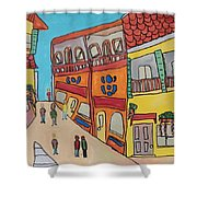 The Walled City Shower Curtain