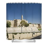 The Walls Of Jerusalem Old Town Israel Shower Curtain