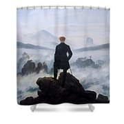 The Wanderer Above The Sea Shower Curtain