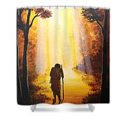 The Wandering Ascetic Shower Curtain