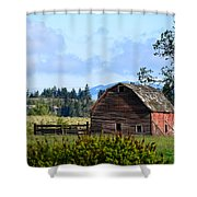 The Warmth Of The Barn Shower Curtain
