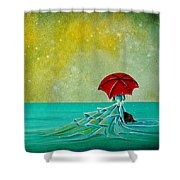 The Watchful Seas Shower Curtain