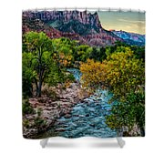 The Watchman At Sunrise Shower Curtain