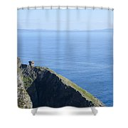 The Watchtower At Slieve League Shower Curtain