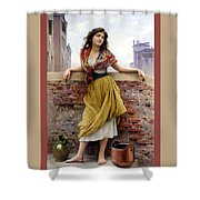 The Water Carrier Poster Shower Curtain