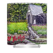 The Water Wheel At Seven Springs Mountain Resort Shower Curtain