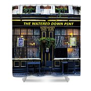 The Watered Down Pint Shower Curtain