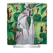 The Waterfall Shower Curtain