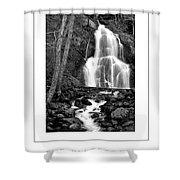Moss Glen Falls Poster Shower Curtain