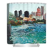 The Waterfront Shower Curtain