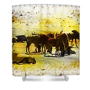 The Waterhole  Shower Curtain
