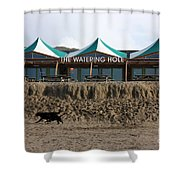 The Watering Hole Perranporth Shower Curtain