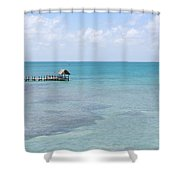 The Waters Of Pigeon Key Shower Curtain