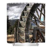 The Waterwheel Shower Curtain