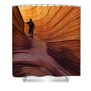 The Wave Beauty Of Sandstone 1 Shower Curtain