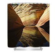 The Wave Reflected Beauty 2 Shower Curtain