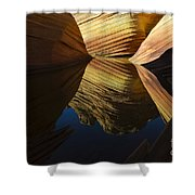 The Wave Reflected Beauty 3 Shower Curtain