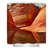 The Wave With Reflection Shower Curtain