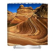 The Wave Wonder In Stone Shower Curtain