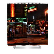 The Waverly Diner And Empire State Building Shower Curtain