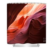 The Waves At Antelope Canyon Shower Curtain