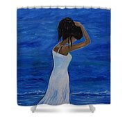 The Waves Of Beauty Shower Curtain