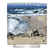 The Waves - The Sea Shower Curtain