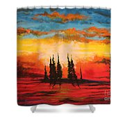 The Way Is Alway Opened Shower Curtain