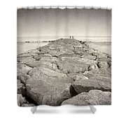 The Way To The  Sea Shower Curtain