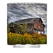 The Weathered Barn Shower Curtain