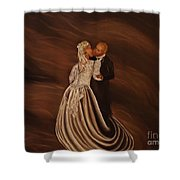 The Wedding Kiss Shower Curtain